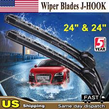 "All Season 24""&24""Inch OEM Quality Bracketless Windshield Wiper Blades(Set of 2)"