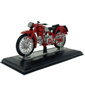 1:24 Moto Guzzi Falcone Motorcycle Model Diecast Motorbike Model Boys Gift Red