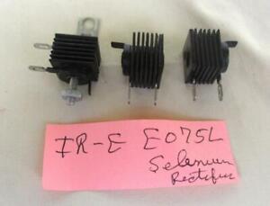 3 Vintage IR E075L Selenium Rectifiers NOS