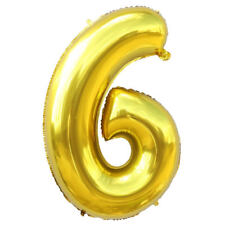 """40""""Gold/Silver Large Foil Letter Number Balloons Birthday Wedding Party Decor CA"""
