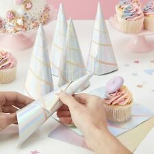 Iridescent Unicorn Horn Paper Napkins Serviettes Childrens Party Tableware x 10