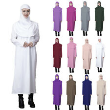 2 Piece Women Prayer Khimar Hijab Muslim Dress Islamic Kaftan Jilbab Burqa Robe