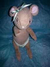 """American Girl Angelina Ballerina Plush Doll Posable 9"""" Mouse jointed Brown Book"""