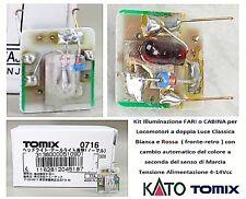 KIT LUCI-FARI con CAMBIO AUTOMATICO COLORI BIANCO-ROSSO FRONTE-RETRO 12V SCALA-N