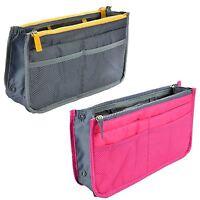 Handbag Organiser Pink Zipper Travel Cosmetics Beauty Toiletry Makeup Storage