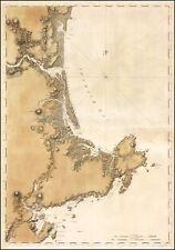 1776 Map POSTER Marblehead Salem to Hampton Harbor Great Boar's Head 39551