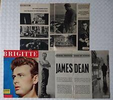 JAMES DEAN SERIE 48 Seiten aus Zeitschrift BRIGITTE CLIPPINGS 1956/57