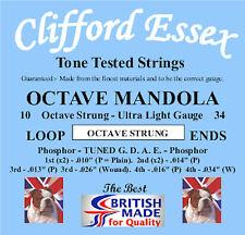 OCTAVE MANDOLA STRINGS. ULTRA LIGHT GAUGE. 10 - 34. MADE IN BRITAIN.