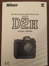 NIKON D2H Manual - Printed & Professionally Bound Size A5 - NEW 252 Pages