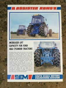 FORD ASSISTER RAMS SEM TRACTOR BROCHURE CONVERSION TW LEAFLET 80s CLASSIC MODEL