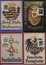 DDR 3302-3305 amtliche Maximumkarten 1-4/90 Histor.Posthausschilder top (B07885)