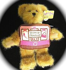Boyds Hugs & Such Greeting Message Plush Bear - Gift for any occasion U Pick NWT