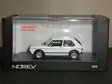 NOREV 840081 VOLKSWAGEN GOLF 1 GTI COUPE WHITE DIECAST MODEL CAR