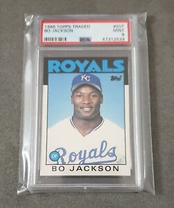 1986 Topps Traded Bo Jackson PSA 9 Mint Rookie Kansas City Royals
