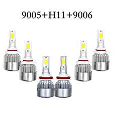 6pcs 9005+9006+H11 Car Light LED Bulb 108W 18000LM Auto Headlight Kit Hi/Lo Beam