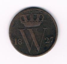 1/2  cent 1827  Brussel    Willem I      Nederland / Belgie