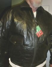 NEW NWT Mens L Maxam Brand Lambskin Leather Bomber Style Patchwork Jacket