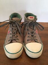 Mens Levi's High Top Canvas Shoes~Tennis~Sneakers~Athletic~ Size 9.5