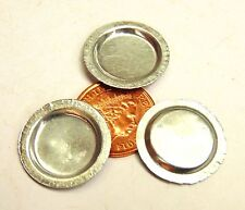 1:12 Set of 3 Metal Round Tin Tray Pie Dish Dolls House Tumdee Food Accessory