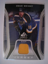 Doug Weight 2006-07 Upper Deck SP Game Used AUTHENTIC FABRICS JERSEY