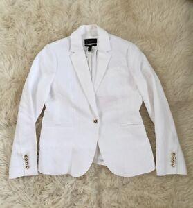 New Jcrew Petite Campbell blazer in linen White G3957 10P SP '17
