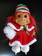 RUSS troll Christmas Ice Skater Troll, complete with hat, muff, skates EUC