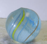 #12921m Vintage German Handmade Corless Swirl Marble .80 Inches