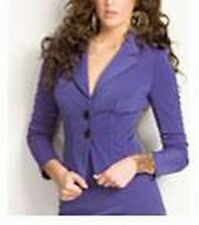 Guess by Marciano NWT Purple CASSIA WIRED Tailored Jacket Spandex Fitted 2