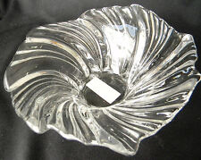 Mikasa Belle Epoque Small Crystal Swirled Art Glass Centerpiece Bowl - Germany