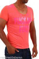 T-shirt Maglia Uomo BRAY STEVE ALAN B648 Slim Fit Rosso Corallo Tg L veste M/L