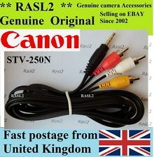 Genuine Original Canon AV Stereo Cable PowerShot SX1 SX160 SX150 iS VIXIA HF G20