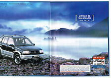 PUBLICITE ADVERTISING    1989   SUZUKI  le grand VITARA V 6  (2 pages)