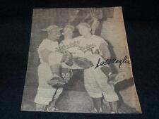 Dodgers Sal Maglie (d.92) Signed Auto Vintage 4.5x6 Newspaper Photo JSA SOA AN
