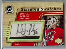 2005-06 THE CUP SCRIPTED SWATCHES MARTIN BRODEUR AUTO PATCH 17/25!!