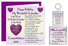 My Godmother Happy Birthday Gift Set - Card, Keyring & Magnet - Lots Love Adult