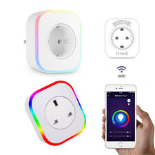 Smart WIFI Socket RGB APP Remote Voice Timer Control UK/EU Plug Home Automation