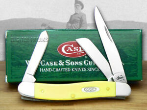 Case xx Medium Stockman Knife Smooth Yellow Delrin Stainless Pocket Knives 80035