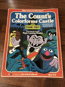 """SESAME STREET COLORFORMS """"THE COUNT'S COLORFORMS CASTLE"""" UNPLAYED Stickers #8102"""