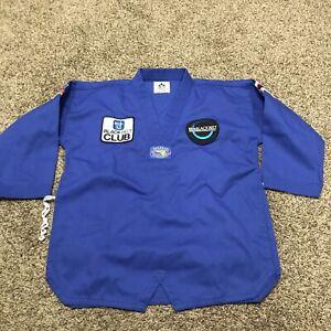 taekwondo uniform Gi  blue size 3 black belt academy a39