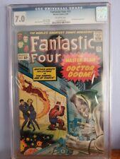 Fantastic Four #23 CGC 7.0 -- 1964 -- Doctor Doom. JACK KIRBY
