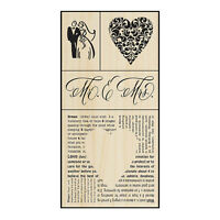 WEDDING Rubber Stamps SWS055 Stampendous! Set of 4 Brand NEW! Fran Seiford love