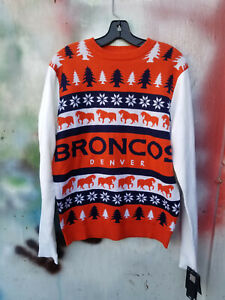 Denver Broncos Klew Sweater Size medium Brand New with Tags MSRP 69.99