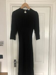 Ghost Black Dress Embroidered  Print Size S UK10 New RRP £149