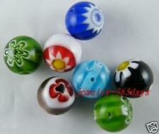 30pcs Millefiori Glass Mixed Spacer Beads 12mm P338
