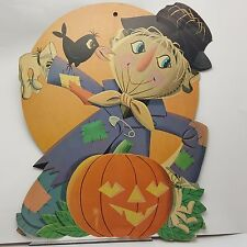Friendly Scarecrow Jack O Lantern Halloween Diecut Cut Out Decoration 16 in