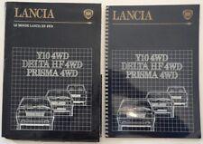 LANCIA 4WD RANGE orig French Mkt Spiral Bound Brochure - Y10 Delta HF Prisma S4