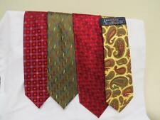 LOT OF 4 NEW with Tags Ties Wembley, Andrew Fezza, J S Blank, American Living