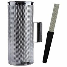 "Latin Percussion 5"" x 12"" Metal Guiro with Scraper Instrument GUIRO512, New"