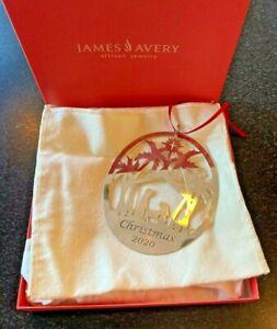 NIB *RETIRING* James Avery Sterling Sterling Silver Nativity Christmas Ornament