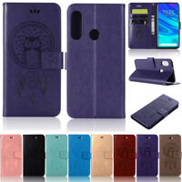 Owl Wallet Leather Flip Case Cover For Huawei Y7 2019 Y5 2019 P30 Lite P Smart Z